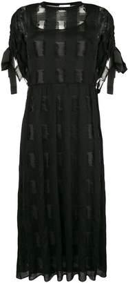 RED Valentino tied short sleeve shift dress