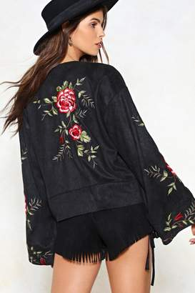 Nasty Gal Ain't No Rest for the Wicked Floral Kimono