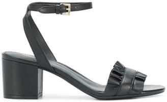 MICHAEL Michael Kors Bella ruffled mid-heel sandals