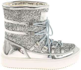 Chiara Ferragni Flirting Glitter Lace-up Boots