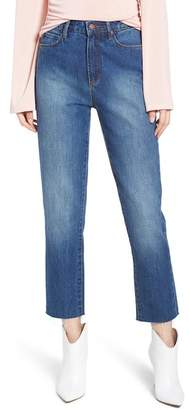 Leith High Waist Crop Straight Leg Jeans