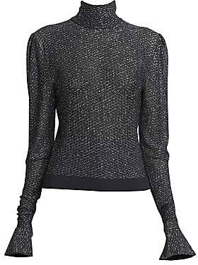 Chloé Women's Metallic Lurex Knit Turtleneck Sweater