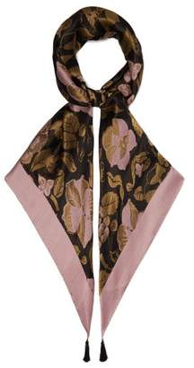 Etro Floral Jacquard Scarf - Womens - Black