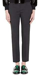 Prada Women's Wool Straight Leg Trousers - Navy
