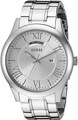 GUESS Men's Stainless Steel Casual Bracelet Watch with Day and Date Display