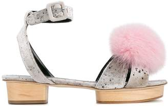Liudmila Happy Pom Pom Sandals