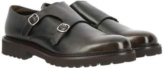 Doucal's Delave Leather Monk Strap