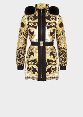 Versace Barocco Hooded Puffer Coat