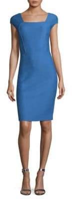 St. John Hannah Wool-Blend Sheath Dress