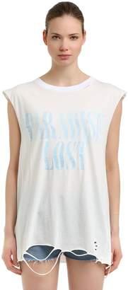 Printed Cotton Sleeveless T-Shirt