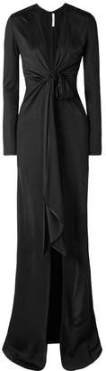 Givenchy Satin-jersey Gown - Black