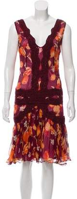 Dolce & Gabbana Printed Knee-Length Dress