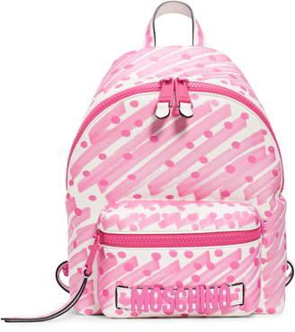 Moschino Scribble Dot Logo Backpack