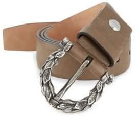 Salvatore Ferragamo Leaves Leather Belt