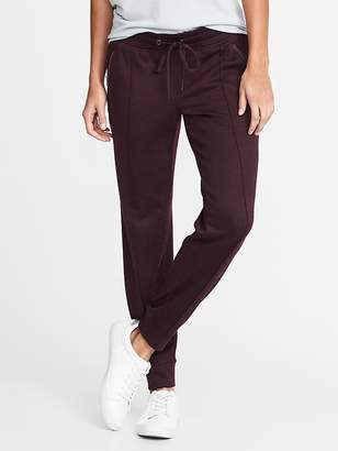 Old Navy Go-Dry Sweater-Knit Zip-Pocket Joggers for Women