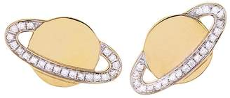 Sydney Evan Diamond Saturn Stud Earrings