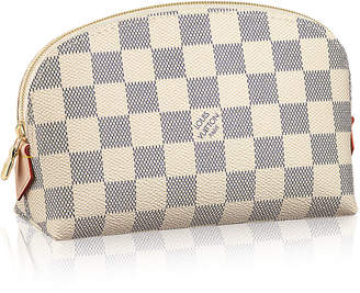 Louis Vuitton Cosmetic Pouch Damier Azur White