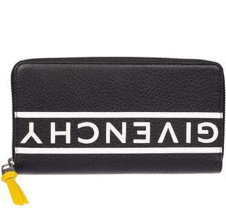 Givenchy Printed Logo Zip Around Wallet