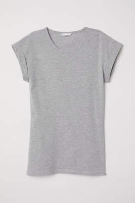 H&M Short-sleeved Jersey Top - Gray