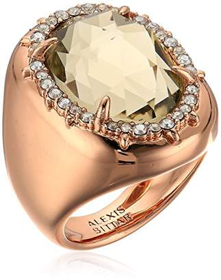Alexis Bittar Halo Signet Ring Pendant Necklace