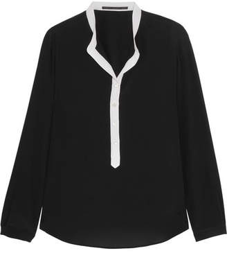 Stella McCartney - Eva Silk Crepe De Chine Blouse - Black $595 thestylecure.com