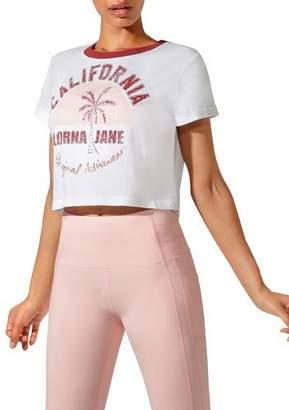 Lorna Jane Cali Cropped Short-Sleeve Tee