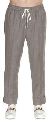 Gucci Houndstooth Wool Pants