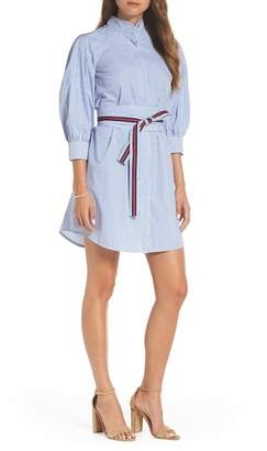 1901 Stripe Tie Waist Shirtdress (Regular, Petite & Plus Size)