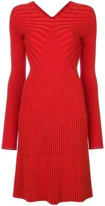 Victoria Beckham ribbed v-neck dress