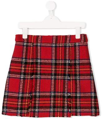 Oscar de la Renta Kids plaid a-line skirt