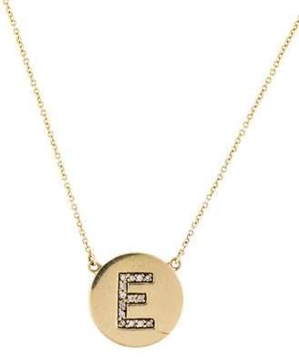 Jennifer Meyer Diamond Letter E Disc Necklace