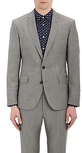 Brooklyn Tailors BROOKLYN TAILORS MEN'S END-ON-END COTTON-MOHAIR TWO-BUTTON SPORTCOAT-LIGHT GRAY SIZE 5