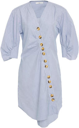 Tibi Asymmetric Cotton Shirt Dress