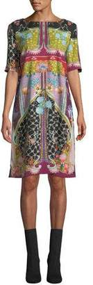 Etro Garden Of Eden 1/2-Sleeve Sheath Dress