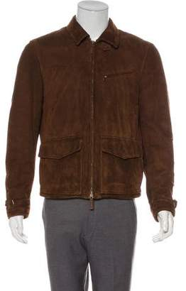 Ralph Lauren Purple Label Suede Wool-Lined Jacket