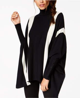 Alfani Striped Poncho Sweater