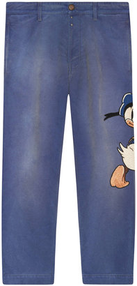 Gucci Denim pant with embroideries $1,620 thestylecure.com