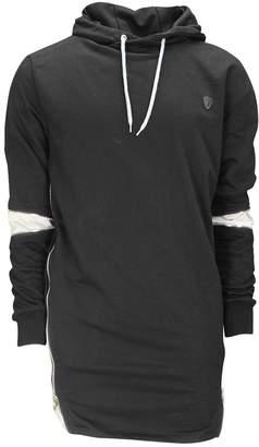 Soul Star Soulstar Mudstone Mens Hoodie Longline Sweatshirt V-Large