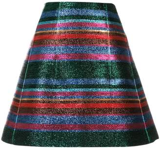DELPOZO A-line checked skirt
