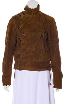 Ralph Lauren Purple Label Suede Button-Up Jacket