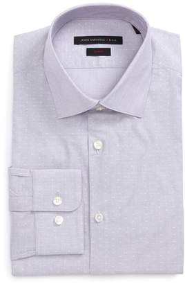 John Varvatos Slim Fit Stripe Dot Dress Shirt