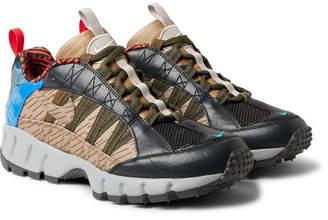 Humara 17 Printed Mesh And Canvas Sneakers