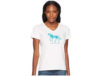 Life is Good Horse Of A Different Color Crusher Vee Tee