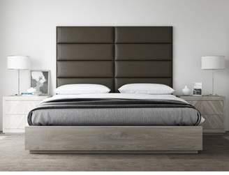 "VANT Upholstered Headboards - Accent Wall Panels - Packs Of 4 - Metallic Gold - 30"" Wide x 11.5"" Height - Full-Queen Headboard"