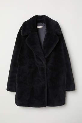 H&M Short Faux Fur Coat - Black