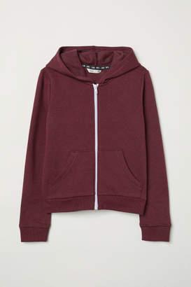 H&M Hooded Sweatshirt Jacket - Red