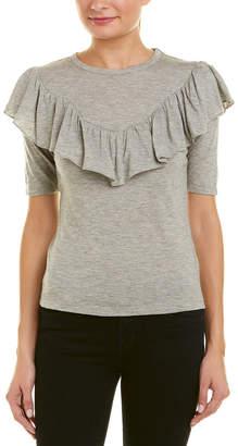 Rebecca Taylor Ruffle Wool-Blend T-Shirt