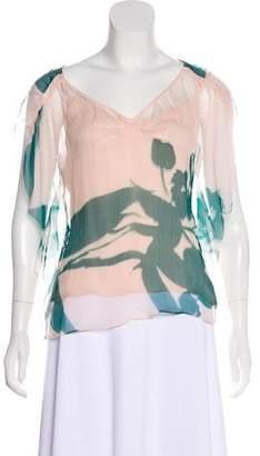 Diane von Furstenberg Ketty Silk Blouse