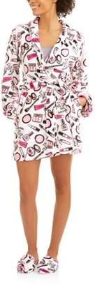 Body Candy Luxe Plush Sleepwear Robe & Slipper Sets