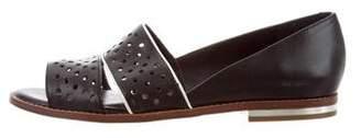 Rebecca Minkoff Leather Open-Toe Flats